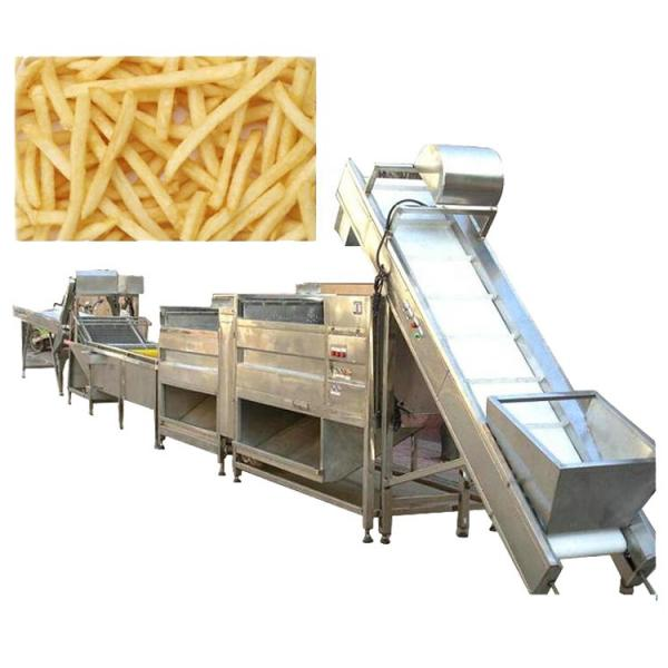 Industrial Automatic Stainless Steel Frozen French Fries Production Line/Potato Chips Production Line/Snack Potato Chips Making Machine with Ce Approved #1 image